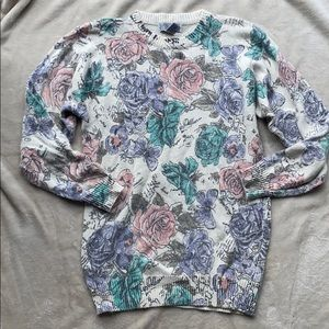 Gorgeous 90's Pastel Rose Sweater